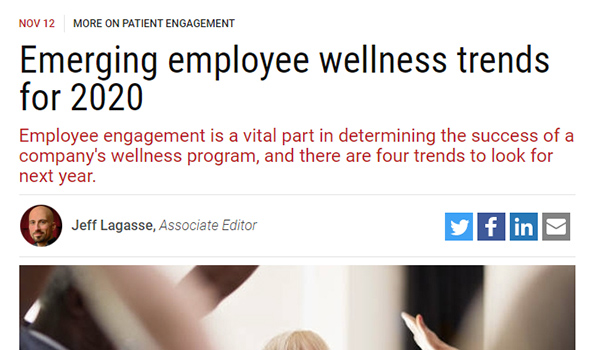 Emerging employee wellness trends for 2020